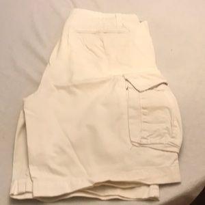 Nautica Jeans Co. cream white cargo shorts
